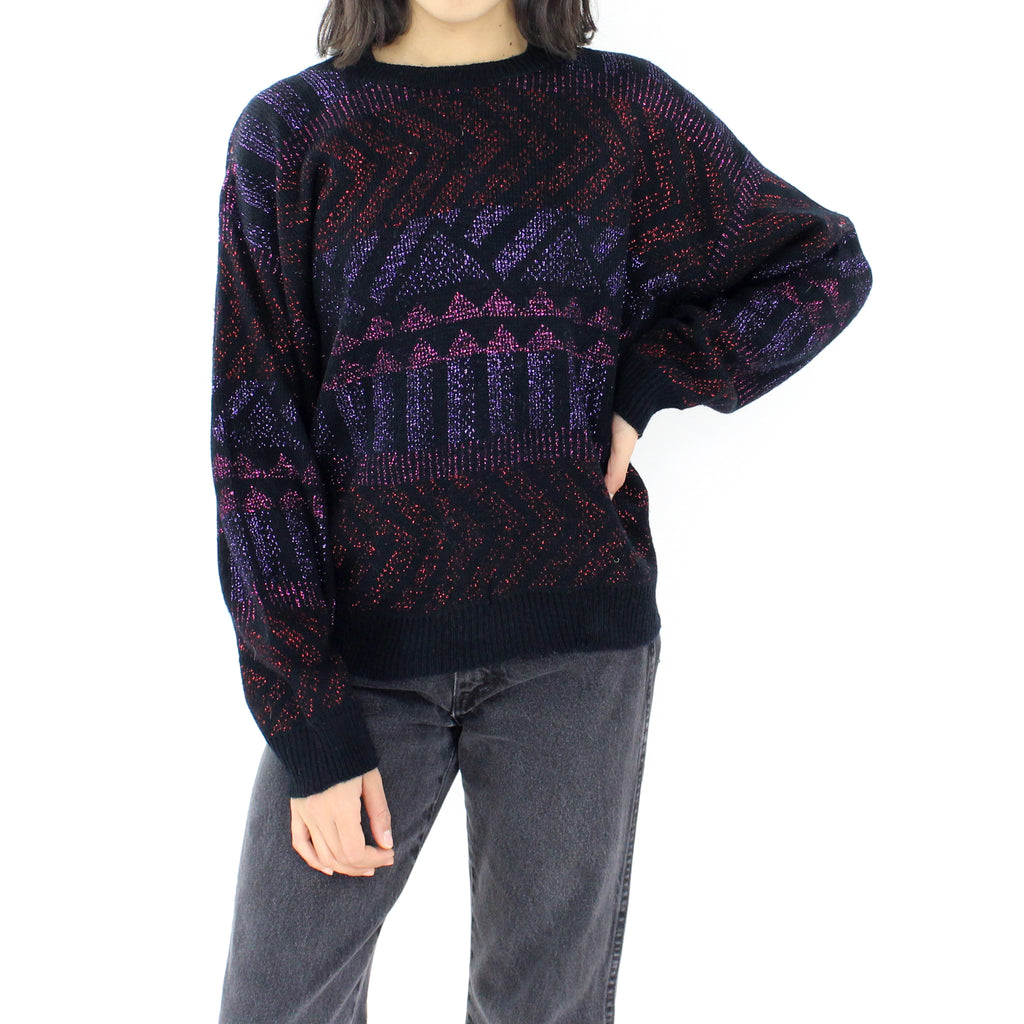 Purple & Pink Glitter Sweater
