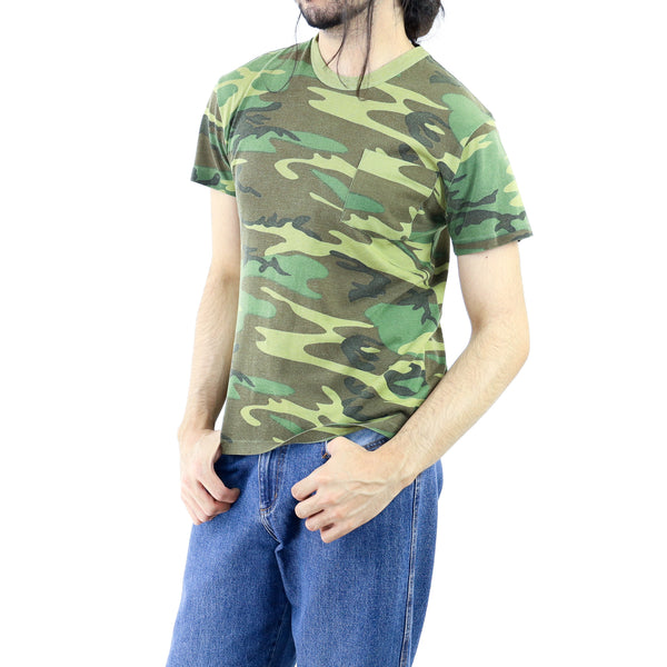 Camou Olive Cotton T-shirt