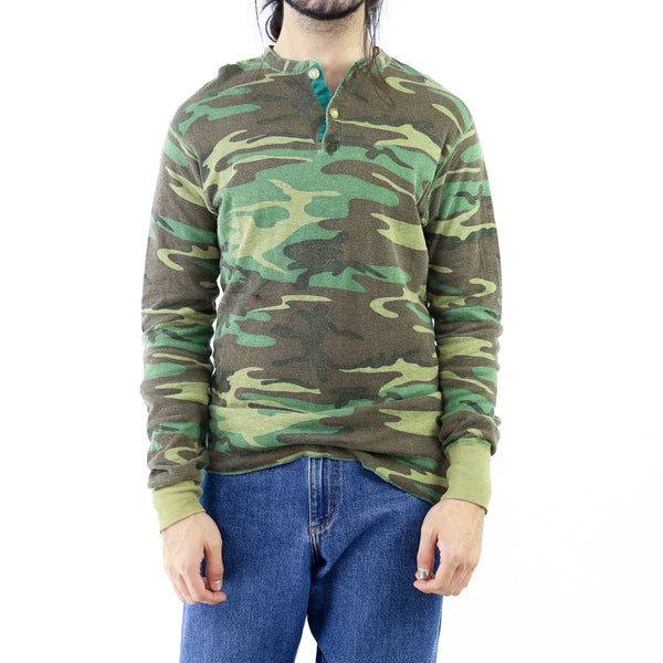 Camo Pattern Graphic Vintage T-shirt