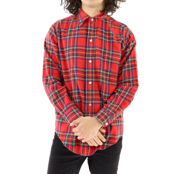 Red & Yellow Tartan Flannel Shirt