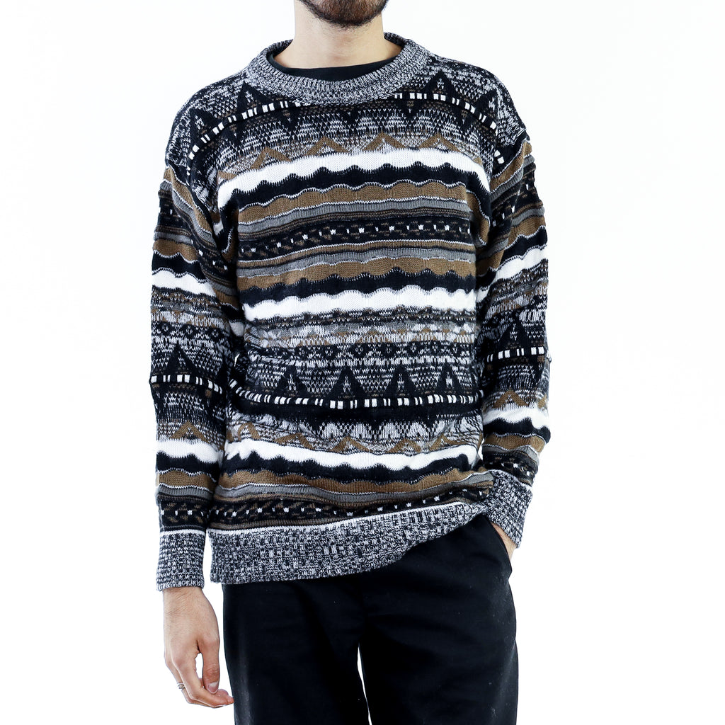 Black Brown & White Coogi Sweater