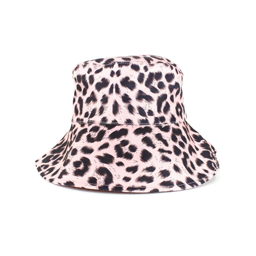 Animal Print Bucket Hat- Pink