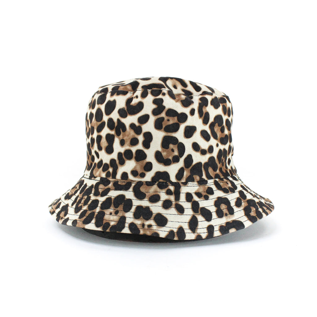 Animal Print Bucket Hat- Brown