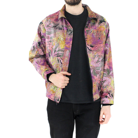 Pink Tropical Plants Bomber Jacket