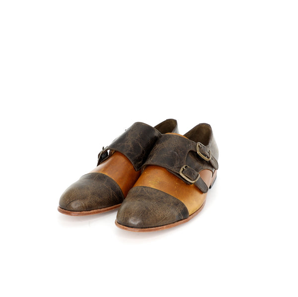 Monk Vagabundo - Tanned & Chocolate Leather Women's