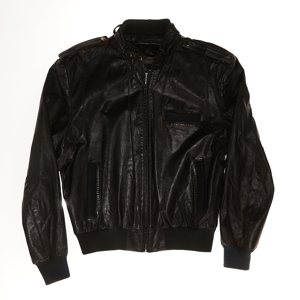 Vintage Member Only Style Leather Jacket