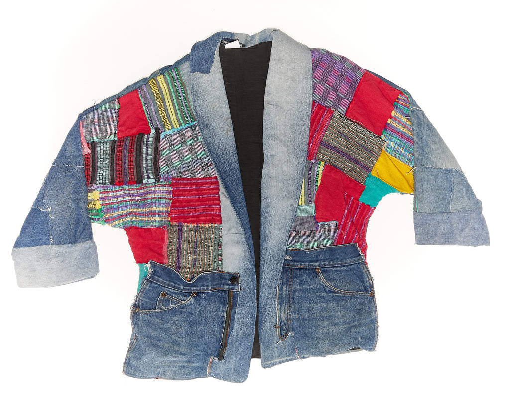 Vintage Reworked Patchwork Denim Jacket