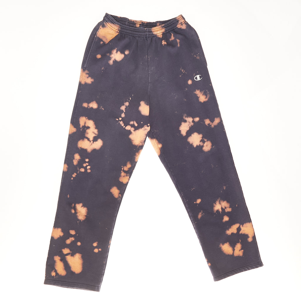 Blue Navy Champion Bleached Vintage Sweatpants
