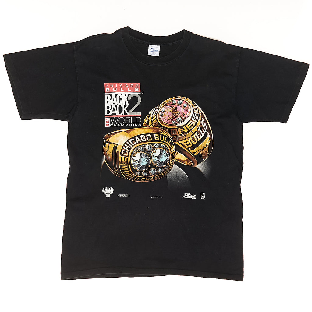 1991 Back 2 Black World Champions Chicago Bulls Vintage T-Shirt
