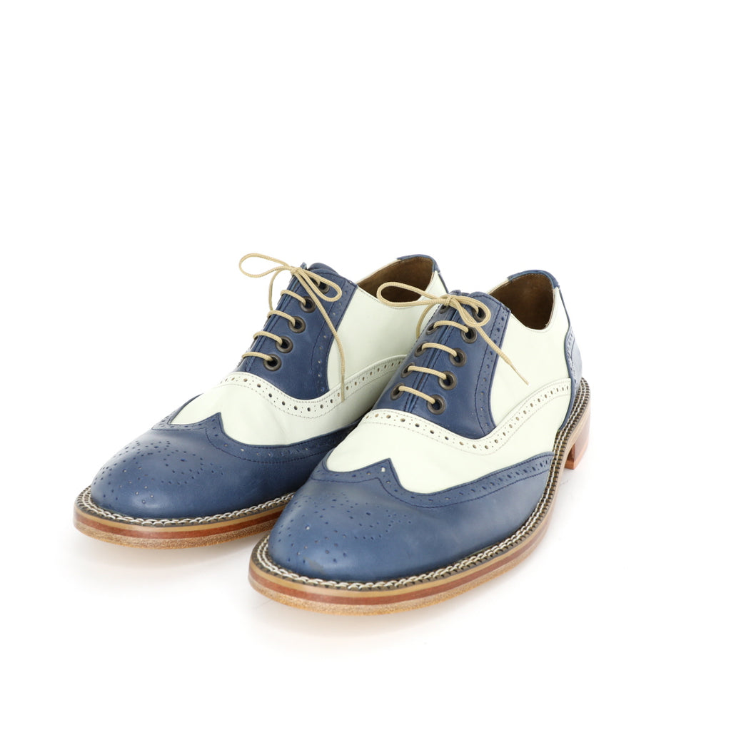 Oxford DC - Beige & Blue