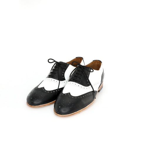 Oxford Puntal - Black & White Women's