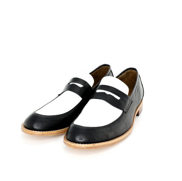 Penny Loafer - Black & White Men's