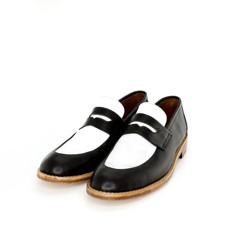 Penny Loafer - Black & White Women´s