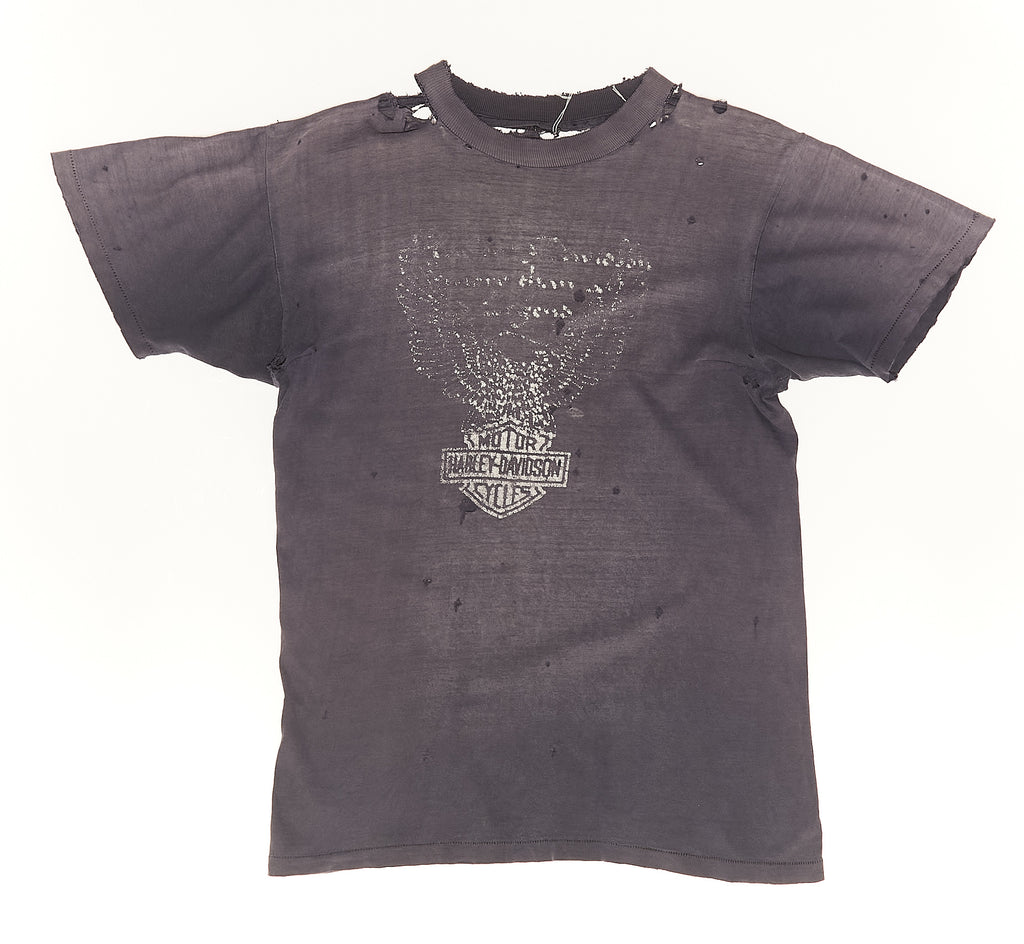 Harley Davidson Distressed anda faded Vintage T-Shirt