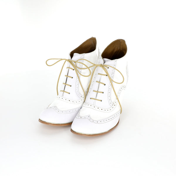 Oxford Heels - White Patent