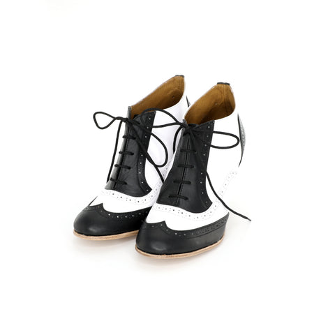 Oxford Heels - Black  & White