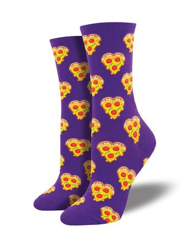 love you to pizzas socks