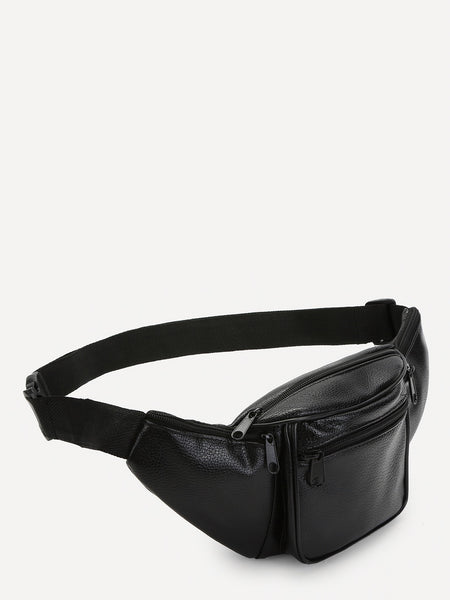 Black Minimal Belt Bag