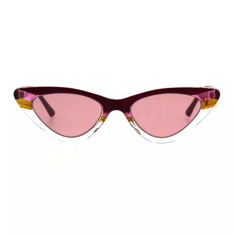Women's skinny cat eye sunglasses - Pink