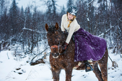 Essential Winter Riding Gear: Insulated riding skirts, moose-hide boots + the best bareback pad, EVAH!