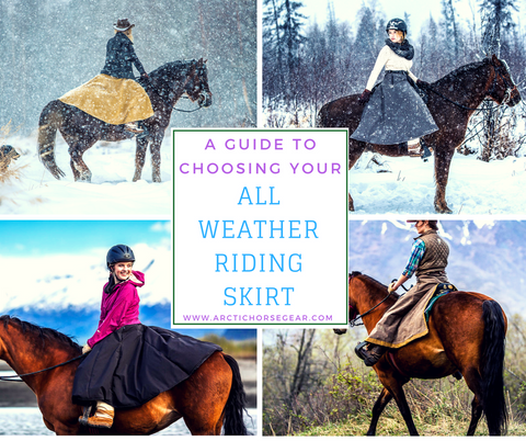 Guide to choosing your Arctic Horse All Weather Riding Skirt winter breeches warm riding