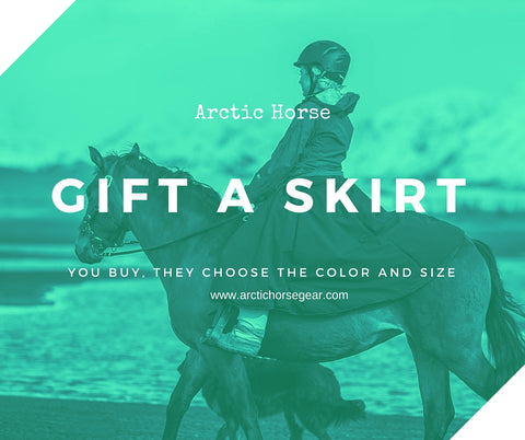 Arctic horse riding skirt