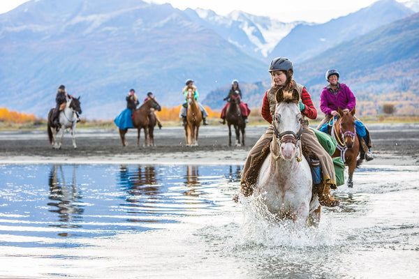 Arctic Horse All Weather Riding Skirts Jen Dushane founder trail riding Alaska