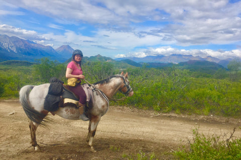 Arctic Horse All Weather Riding Skirts Alaska Trail Riding Purinton Creek Tongass Rain skirt