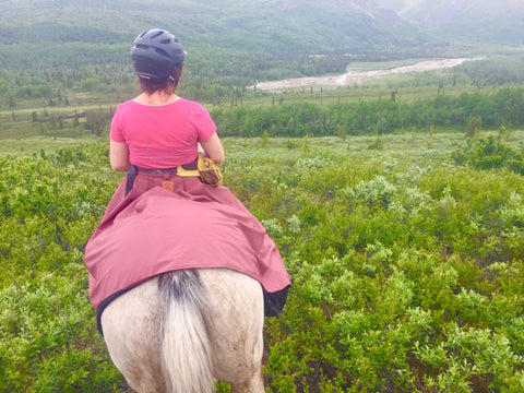 Tongass Rain Riding skirt Arctic Horse Alaska Trail Riding