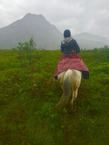 Tongass Rain Riding Skirt Alaska Trail Riding Arctic Horse Gear