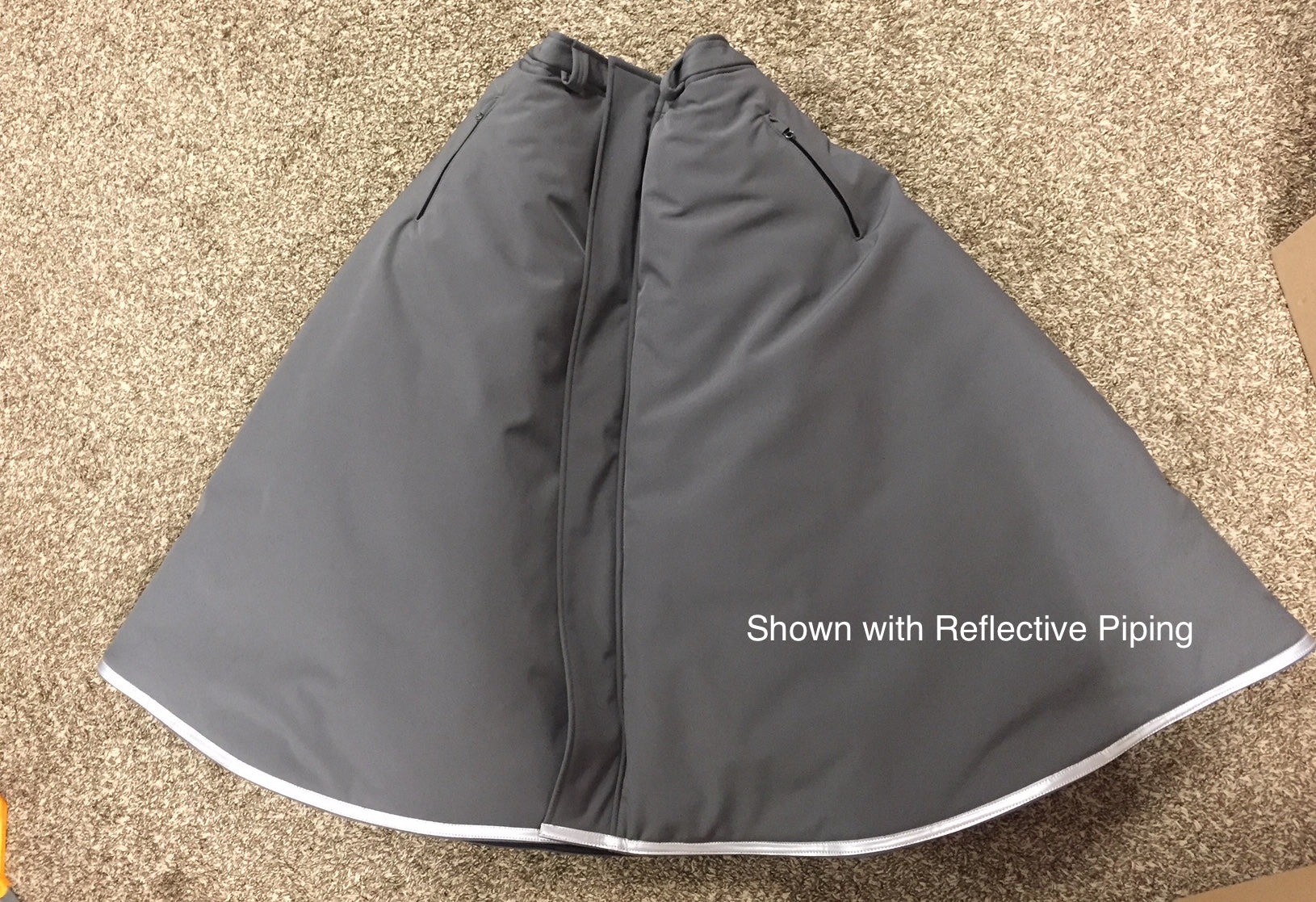 Custom Arctic Insulated Riding Skirt- Long Narrow