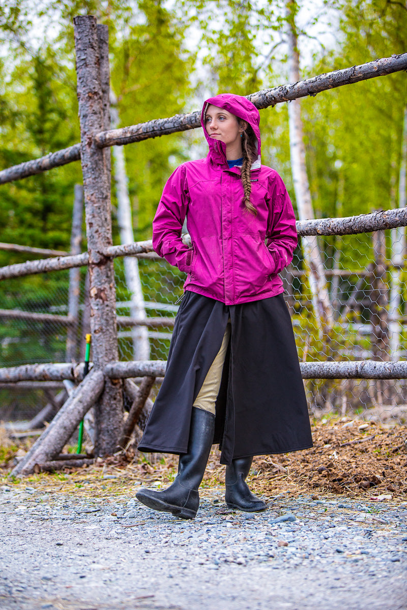 IN-STOCK Microfleece Tongass Rain Riding Skirt Long