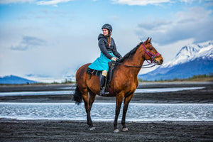Arctic Horse Riding Skirt Tongass Rain Short Ocean