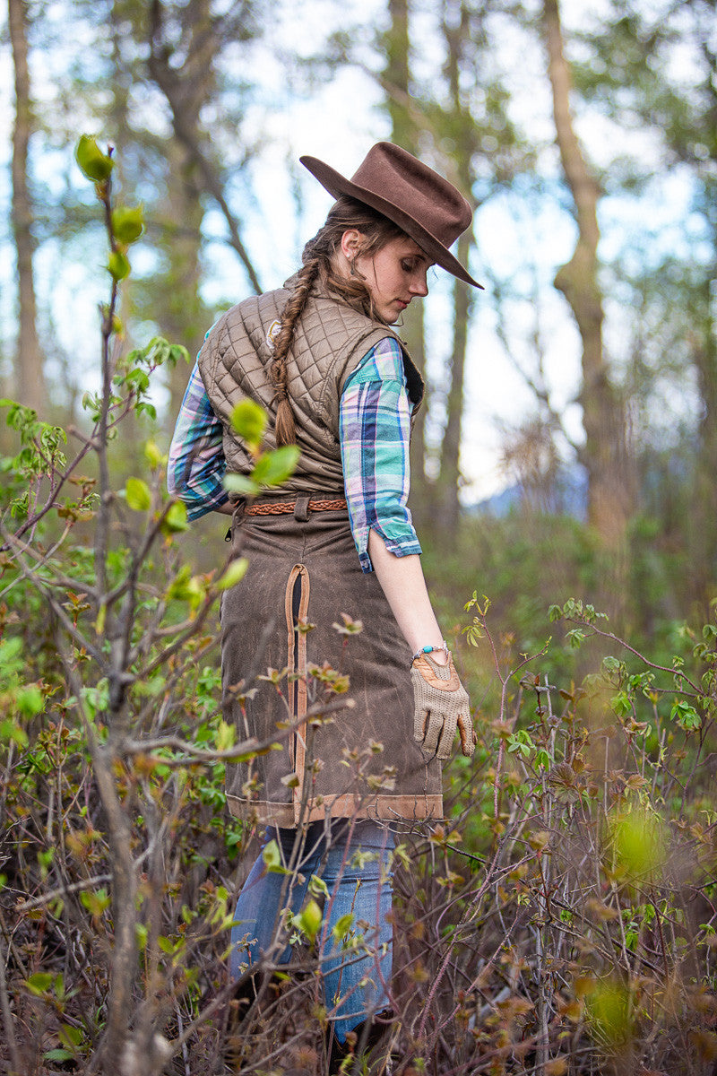 Arctic Horse Backcountry Trail riding skirt riding breeches winter skirt horse riding trail riding waxed canvas vegan outerwear
