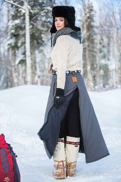 Arctic Horse Narrow Arctic Insulated Riding Skirt winter riding breeches