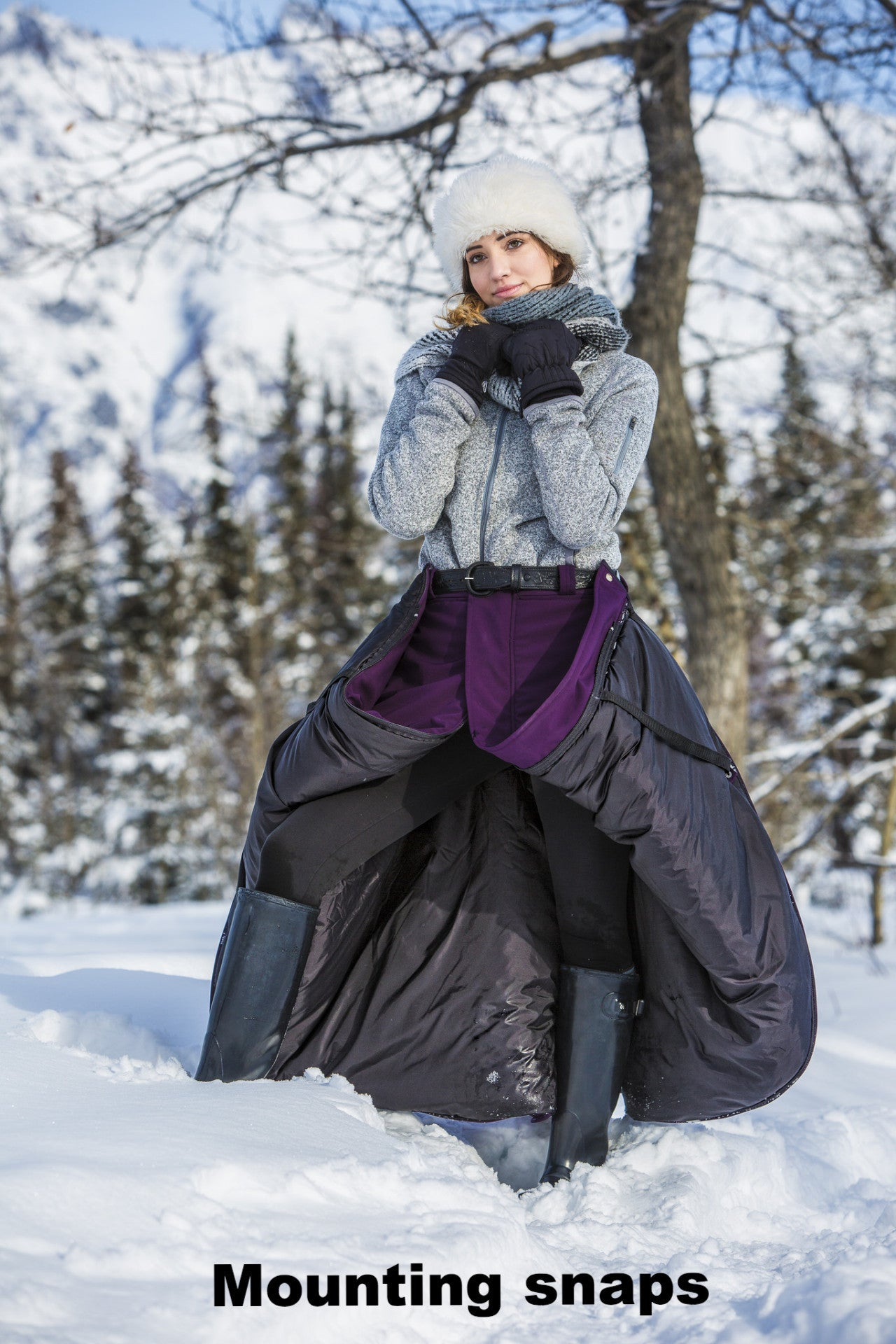 Arctic Horse Full Arctic Insulated Riding Skirt