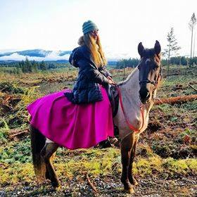 Custom Tongass Rain Riding Skirt- Long