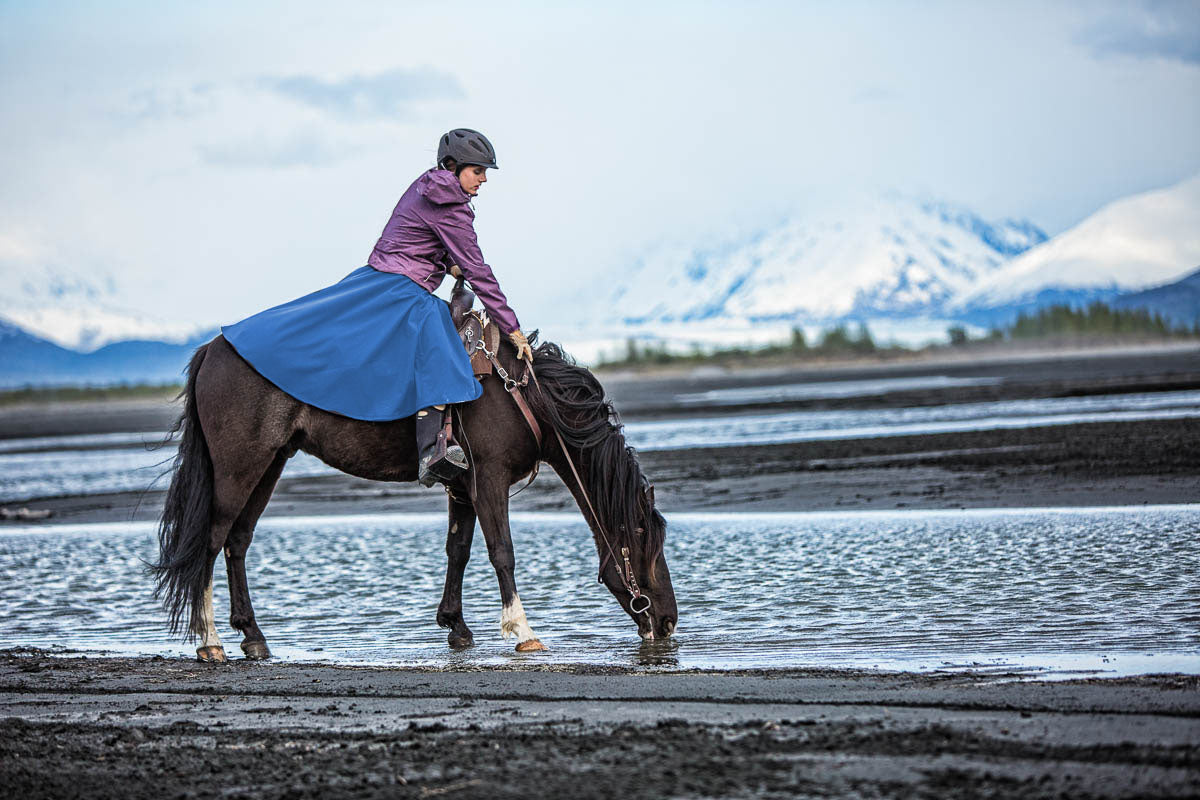 Arctic Horse Tongass Rain riding skirt riding breeches rain pants skirt horse riding trail riding