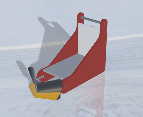 Snow crusher sled for kid - OneWay Model