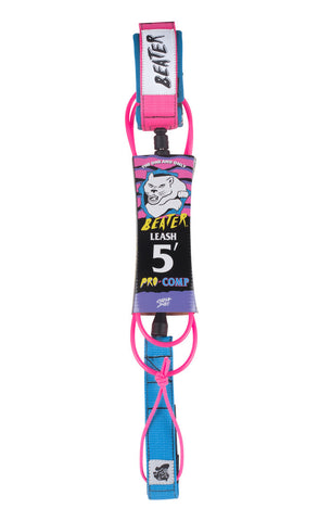 Beater Pro Comp 5FT LEASH Pink/Blue
