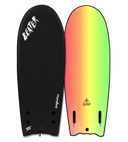 "Catch Surf Beater Original 54"" Twin Fin Black Rasta"