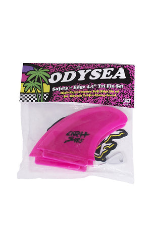 Catch Surf Odysea Safety Edge Thruster Fin Set in Pink DriftingThru.com