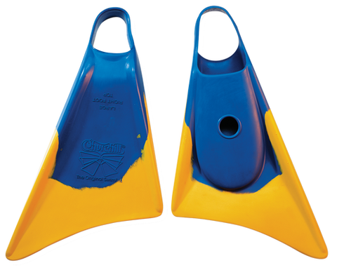 Churchill Makapuu Swimfins Blue/Yellow