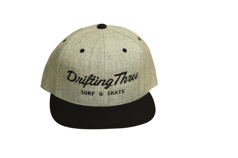 Drifting Thru Snapback Hat Heather Gray / Black