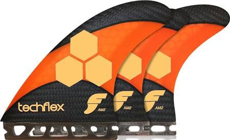 Future Fins AM2 Techflex 5 Fin Set Orange/Black