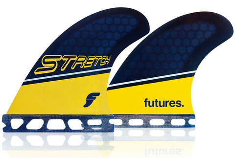 Future Fins Stretch Honeycomb Quad Fin Set Blue/Yellow