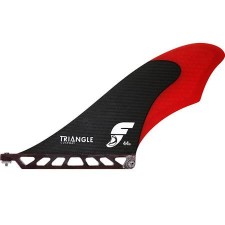 Future Fins Triangle Cutaway Small SUP Fin Red/Carbon DriftingThru.com