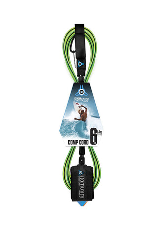 Komunity Project 6' Comp Leash 6Mm Lime