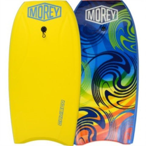 "Morey Cruiser 42.5"" Bodyboard Yellow w/Coiled Leash"