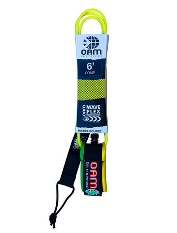 OAM On A Mission 6' Comp Leash Yellow Clean